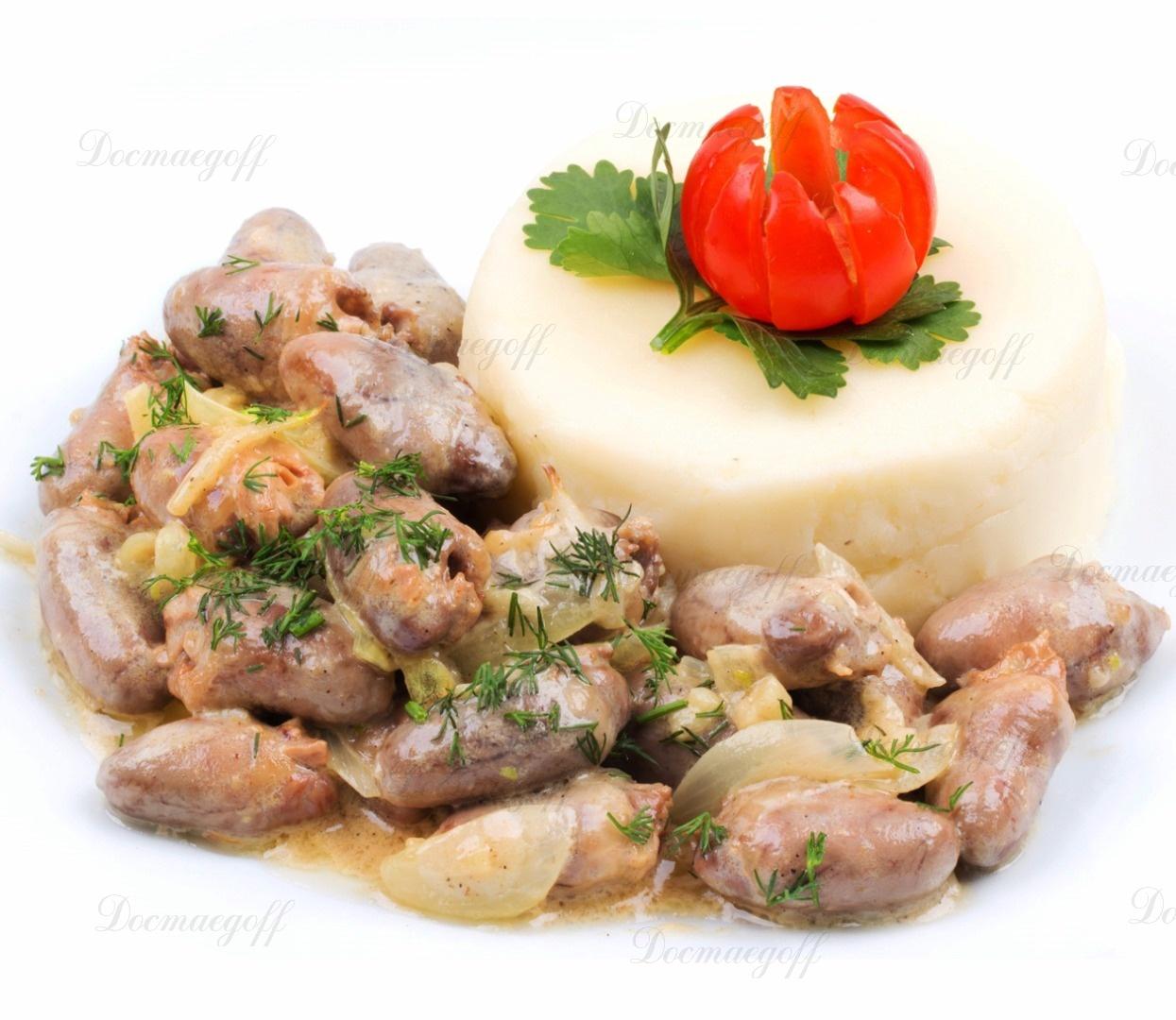 Куриные сердечки рецепт в сливочном соусе пошагово в